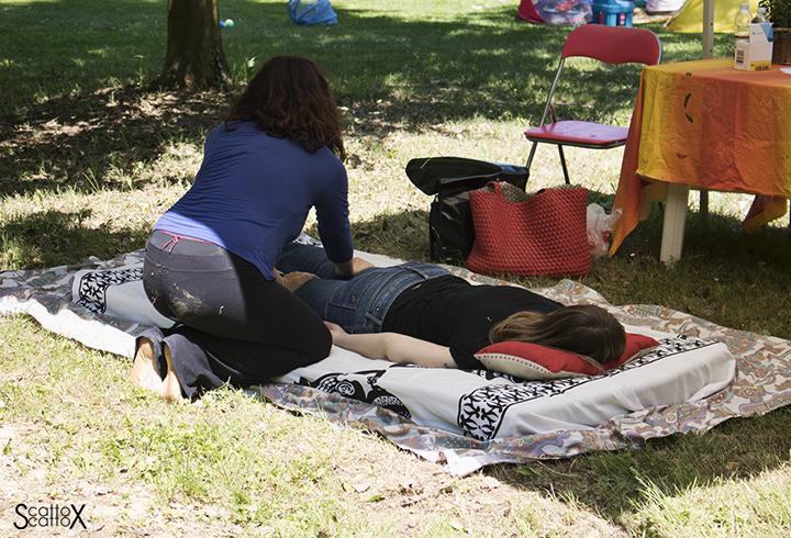 evento sophia - massaggio