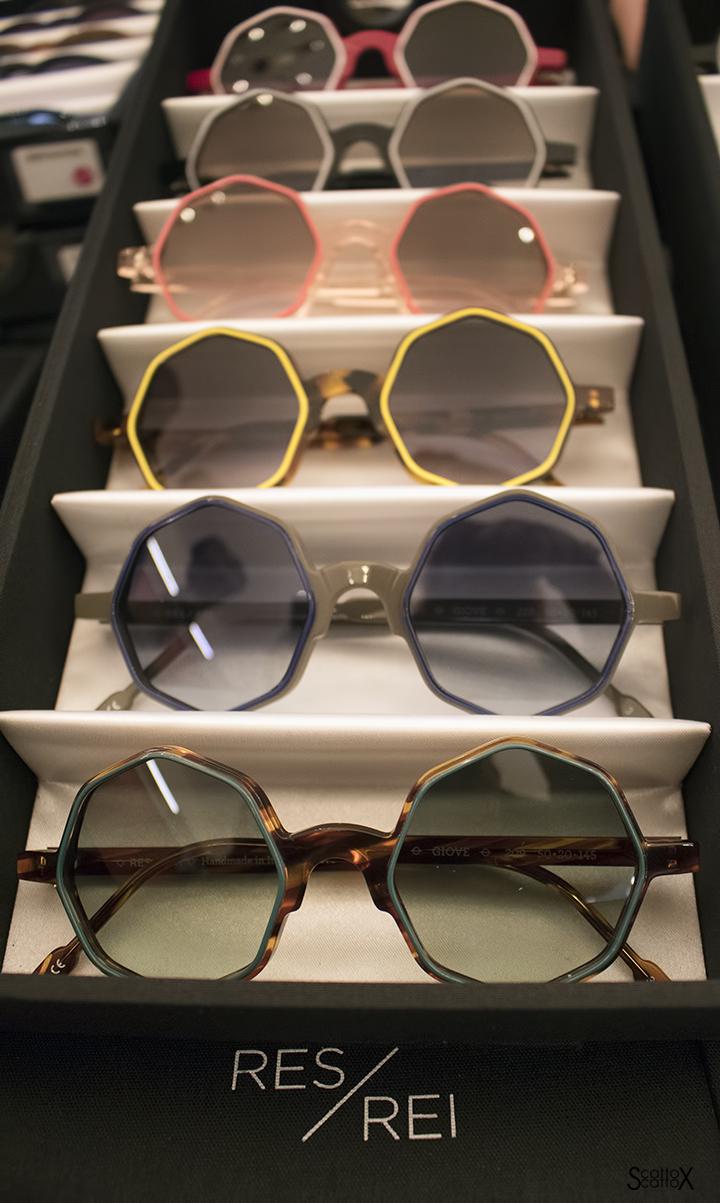 Colori e forme particolari degli occhiali RES/REI da Pour Moi Bottega Ottica