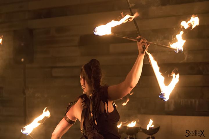 La notte del fuoco a Monselice: Spirals Fire