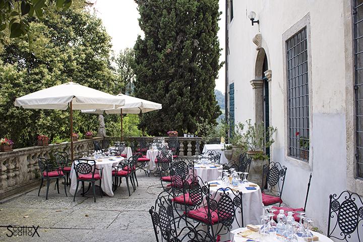 Sorsi d'Autore presso Villa Valmarana a Vicenza: la terrazza dell'evento