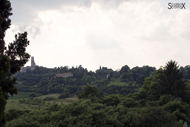 Sorsi d'Autore presso Villa Valmarana a Vicenza: vista sui colli Berici