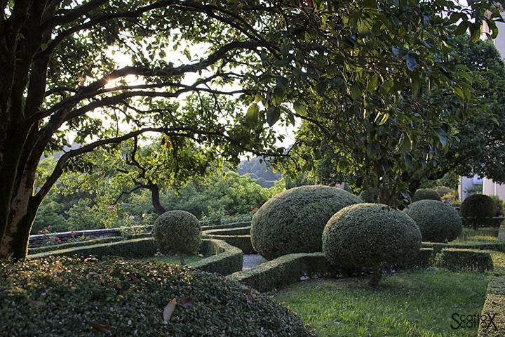 Sorsi d'Autore presso Villa Valmarana a Vicenza: veduta del giardino della Villa
