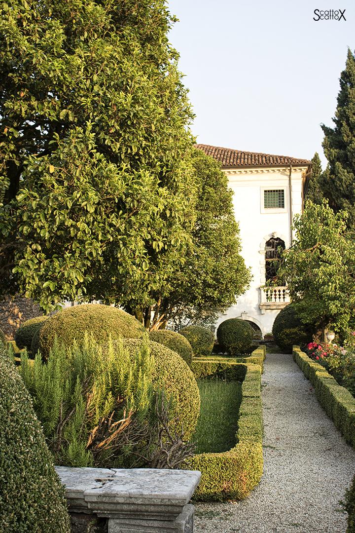 Sorsi d'Autore presso Villa Valmarana a Vicenza: scorcio della Villa e del giardino