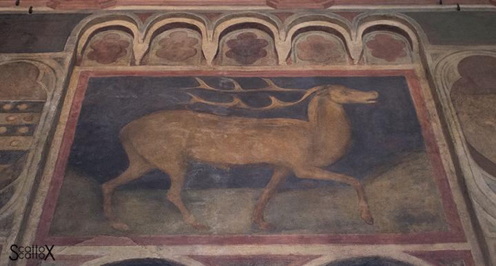 Il Palazzo della Ragione di Padova: insegna del Tribunale del Cervo