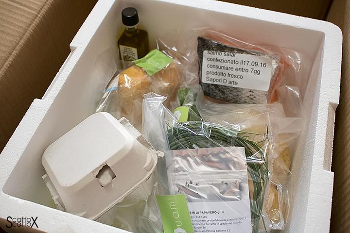Quomi: il pacco con tutti gli ingredienti freschi, consegnato a domicilio