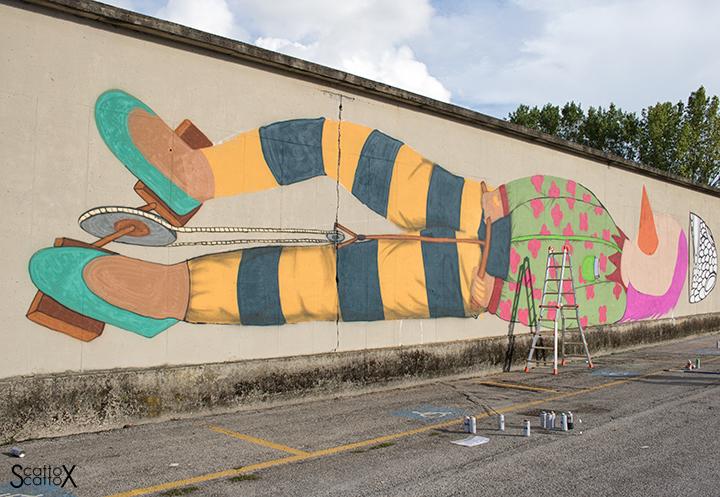 I DOLOve Street Art Festival: l'opera di Tony Gallo