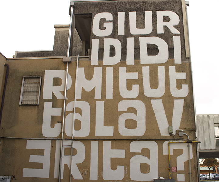 I DOLOve Street Art Festival: l'opera di BR1