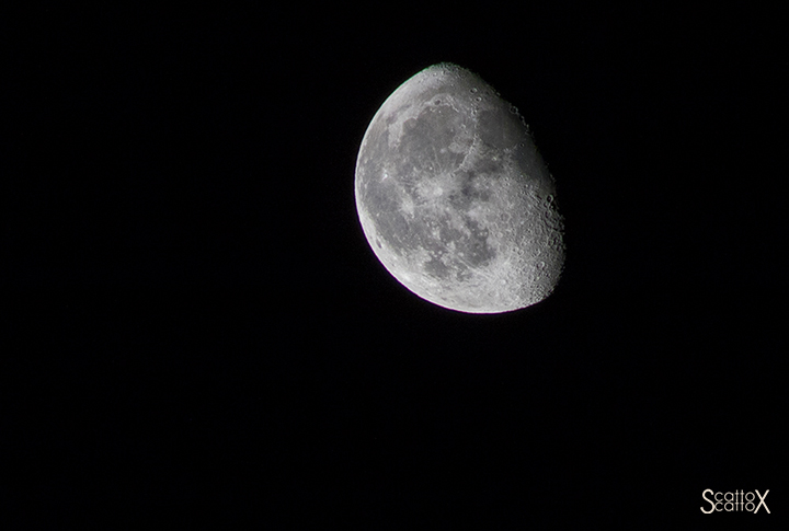 Il cielo di Padova: la Luna
