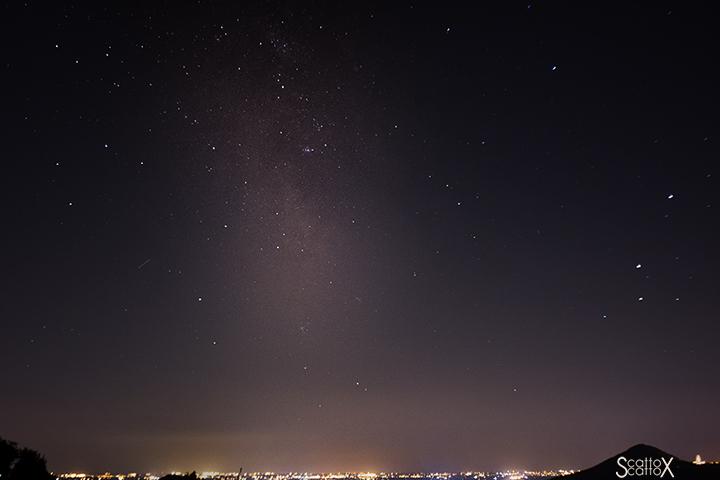 Il cielo di Padova: la zona della Via Lattea del Sagittario