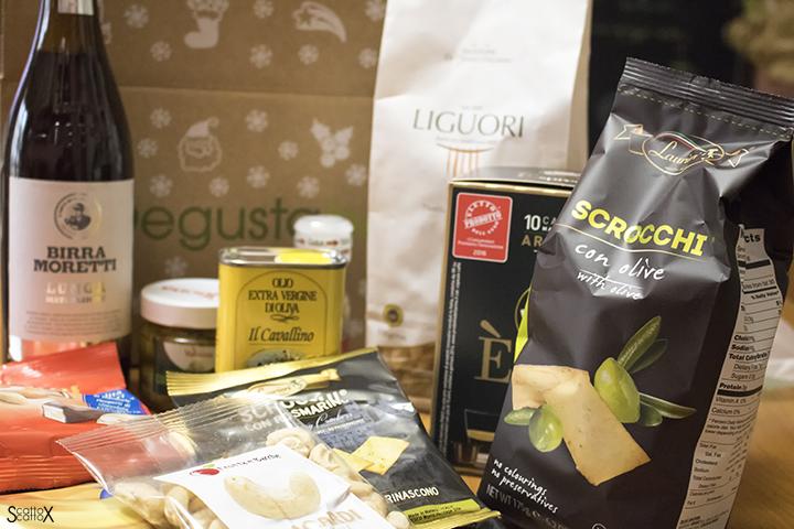 Degustabox: la scatola con i prodotti