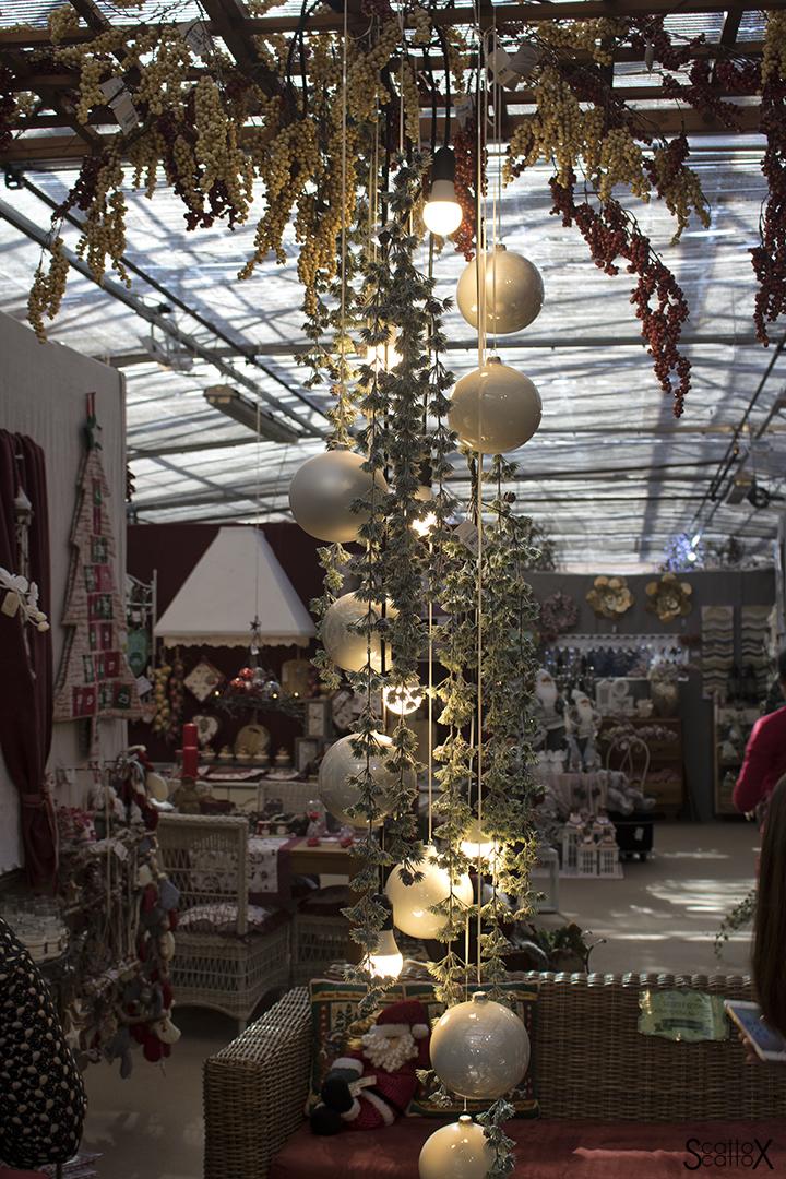 Garden Cavinato: l'allestimento del salotto di Natale