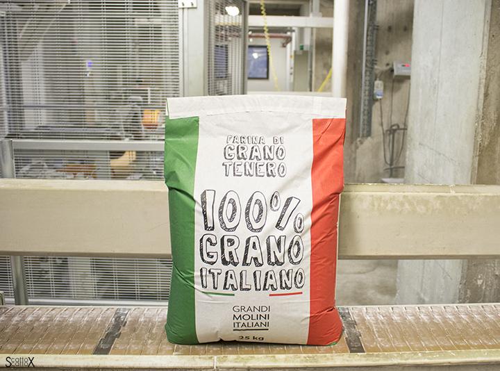 Grandi Molini Italiani per Open Factory 2016: i sacchi da 25kg di farina di grano tenero