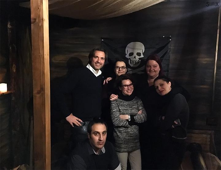 """Il gruppo di blogger padovani nella nuova escape room """"Il Galeone Pirata"""""""