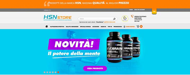 Acquistare proteine HSNstore, la miglior nutrizione sportiva e dietetica naturale
