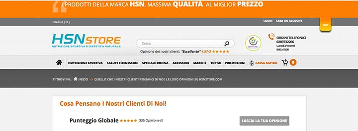 HSNstore: il sito dove acquistare proteine - Soddisfazione dei clienti