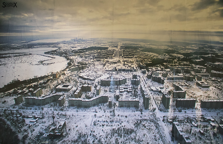 Il silenzio assordante di Chernoby: veduta di Pripyat