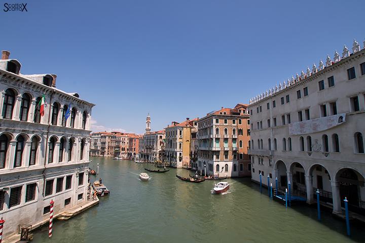 Una passeggiata a Venezia: vista dal Ponte di Rialto