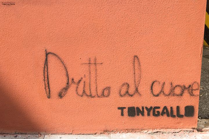 La Street Art a Padova - Tony Gallo: Dritto al cuore