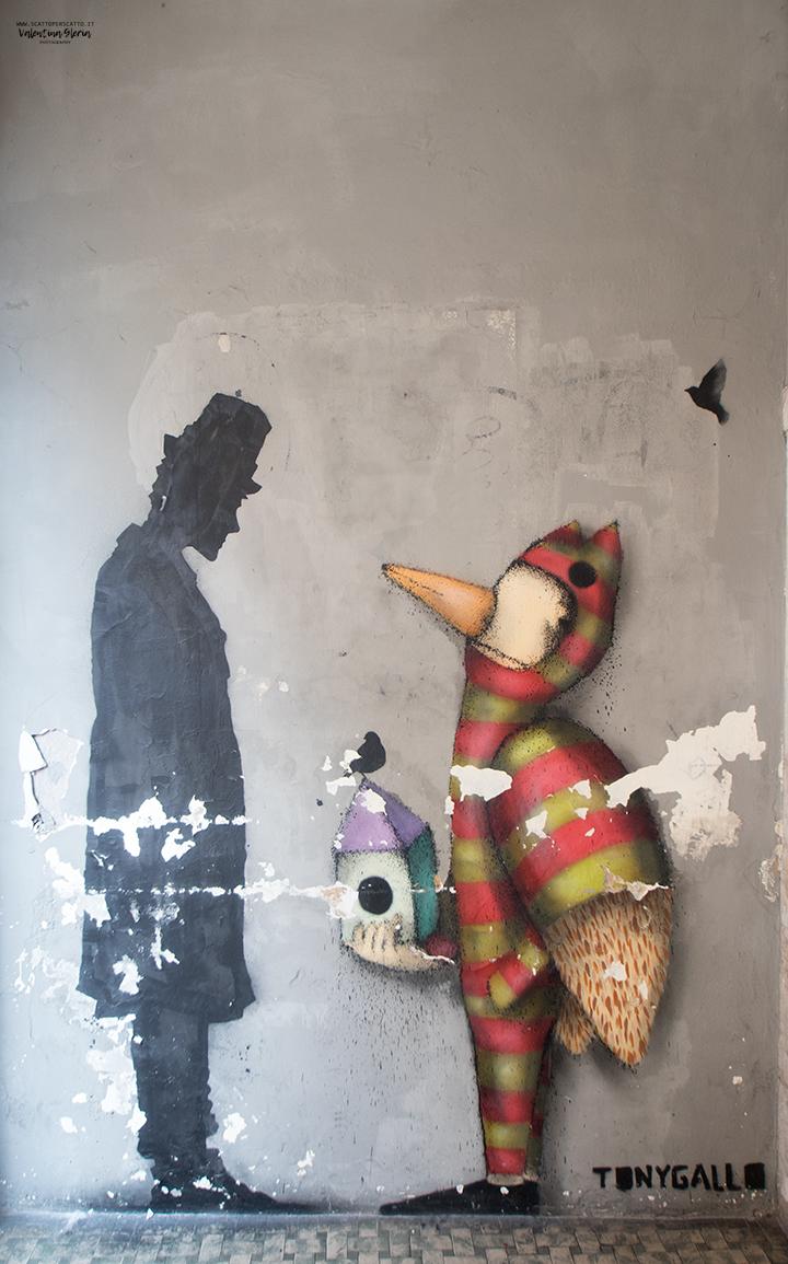 La Street Art a Padova - Kenny Random e Tony Gallo