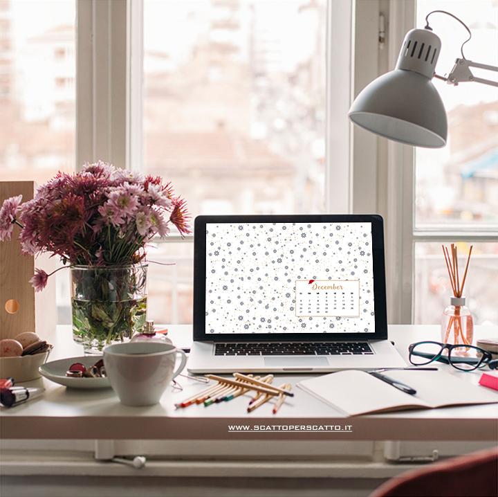 Lo sfondo di Dicembre - Calendario dell'avvento - Sfondo desktop