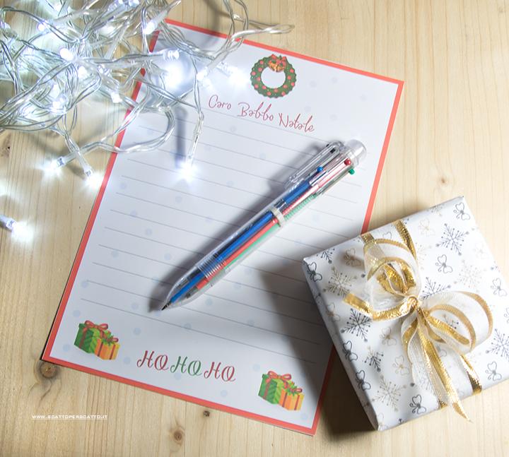 Letterina a Babbo Natale - Calendario dell'avvento