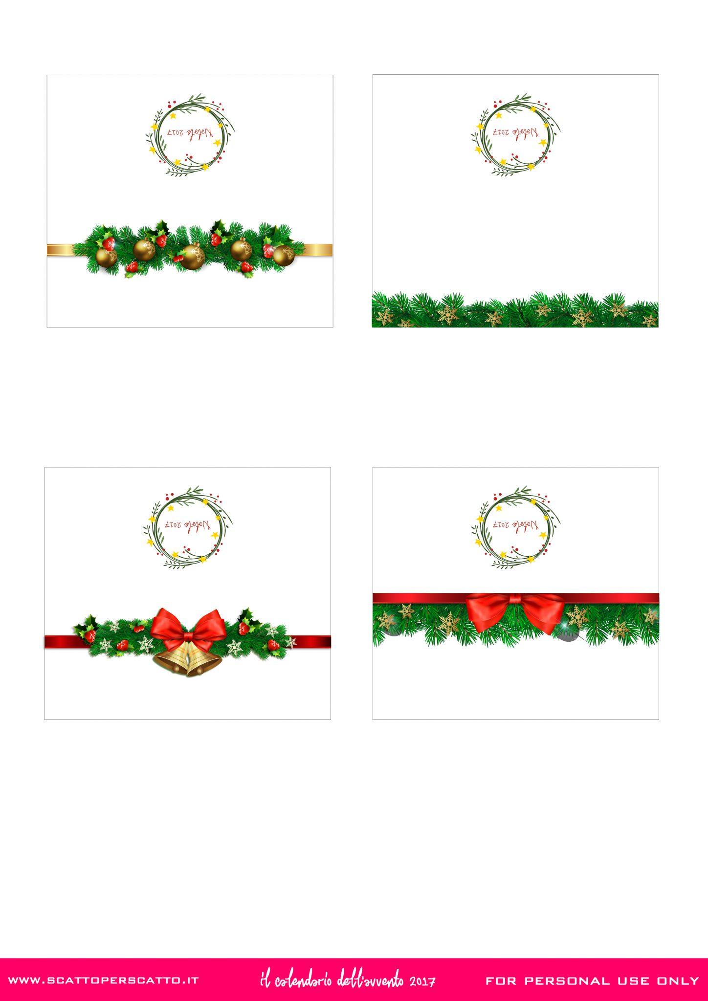Segnaposto Con Nome Da Stampare segnaposto natalizi - calendario dell'avvento - scatto per