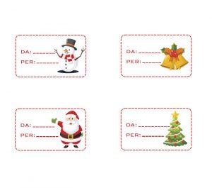Etichette chiudi pacco natalizie – Calendario dell'avvento