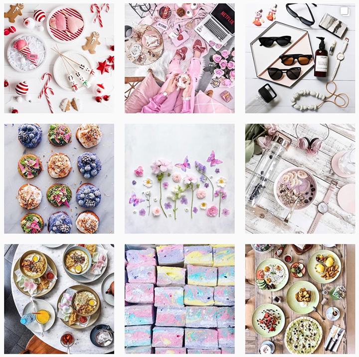 Flat lay Instagram