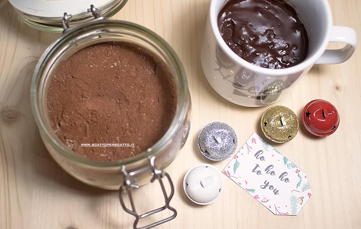 Preparato per cioccolata calda fatta in casa