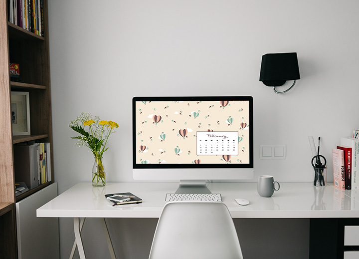 Lo sfondo di Febbraio - Sfondo desktop