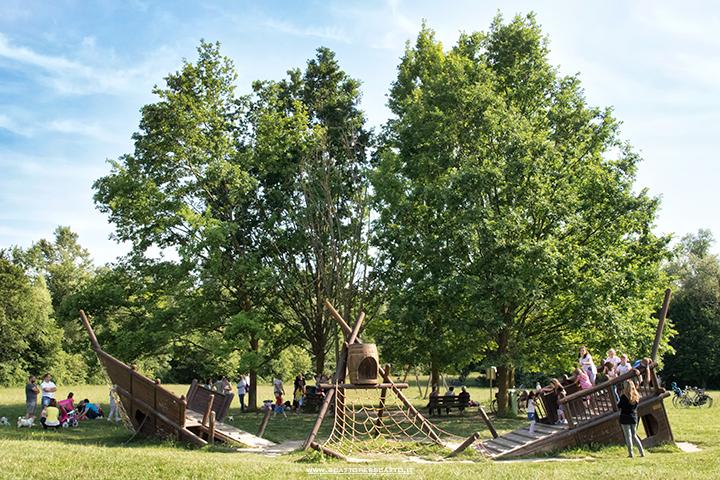 Parco dei Laghetti di Martellago: la zona dei giochi per i bambini