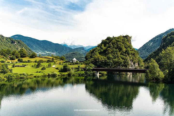 Lago del Corlo - Vista dal Ponte della Vittoria