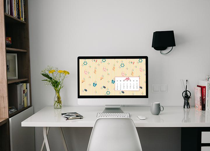 Lo sfondo di Luglio - Sfondo desktop
