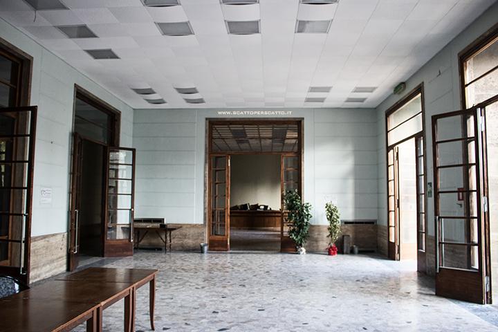 Lo stabilimento INPS di Battaglia Terme: l'ingresso