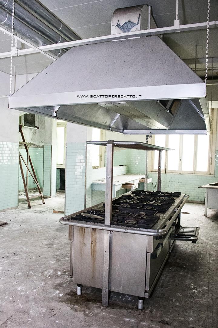 Lo stabilimento INPS di Battaglia Terme: la cucina