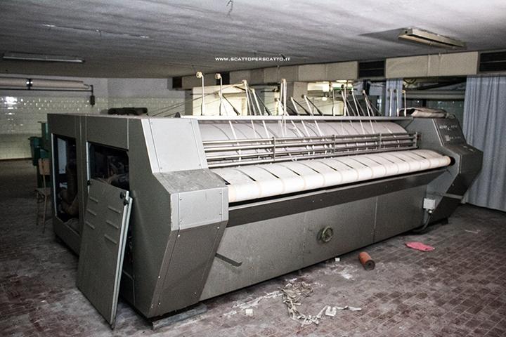 Lo stabilimento INPS di Battaglia Terme: la stireria automatica