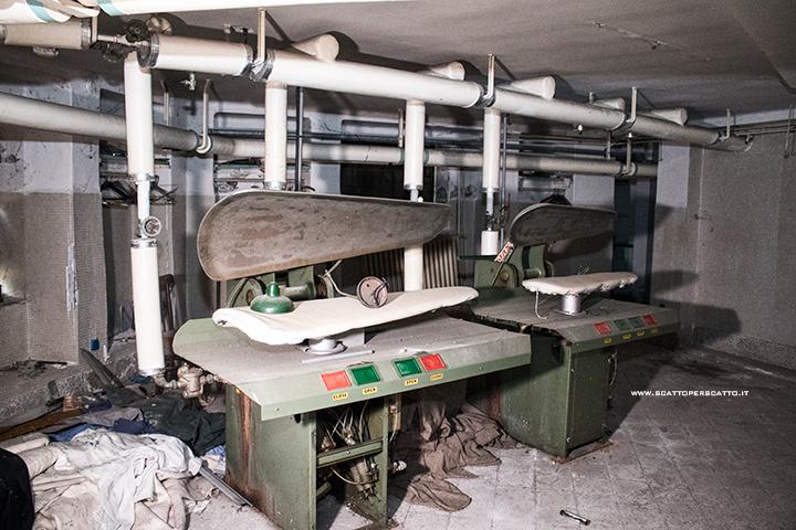 Lo stabilimento INPS di Battaglia Terme: la stireria