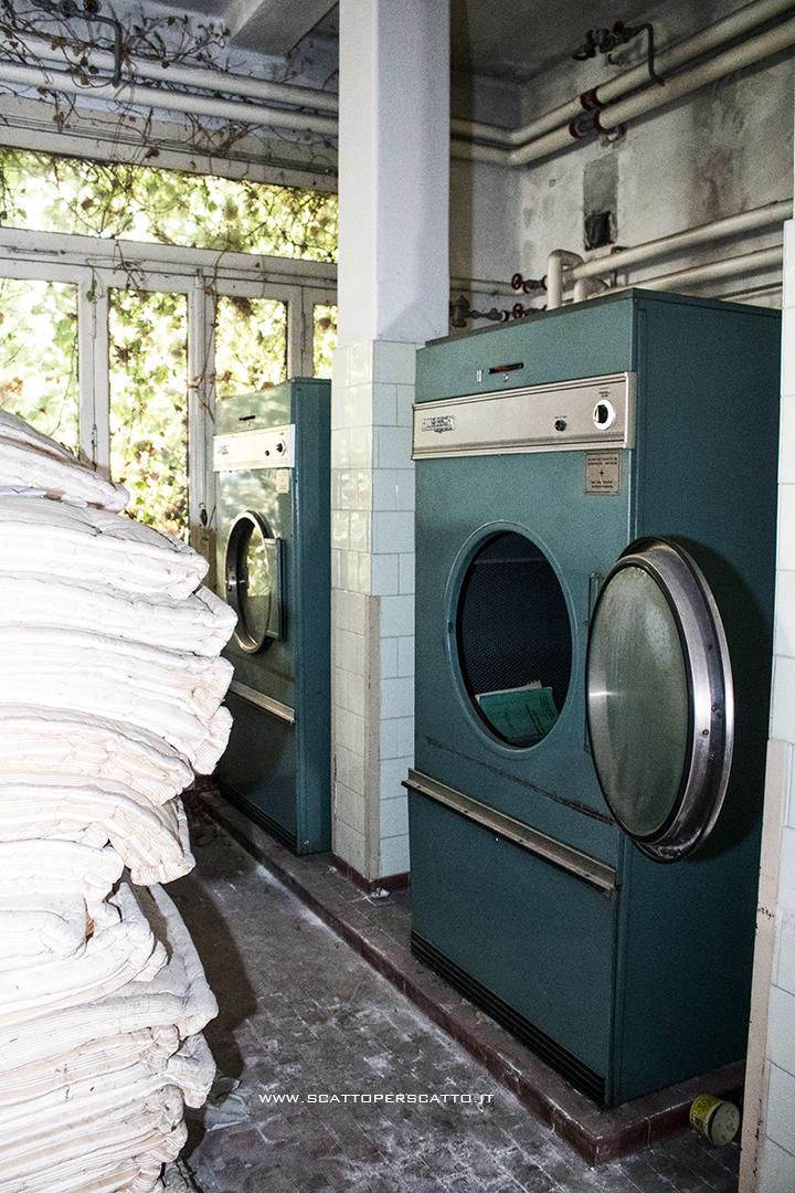 Lo stabilimento INPS di Battaglia Terme: la lavanderia