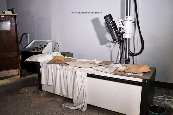 Lo stabilimento INPS di Battaglia Terme: sala radiografie