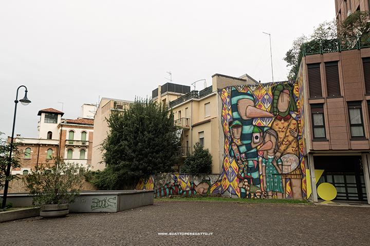 Dove trovare street art a Padova: Tony Gallo in Piazzetta Bussolin
