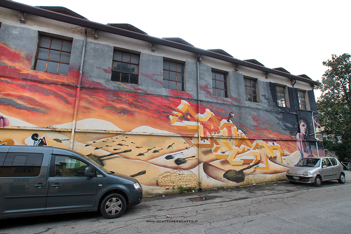 Dove trovare street art a Padova: zona CSO Pedro