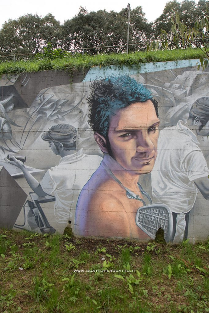 Dove trovare street art a Padova: il muro di Jeos