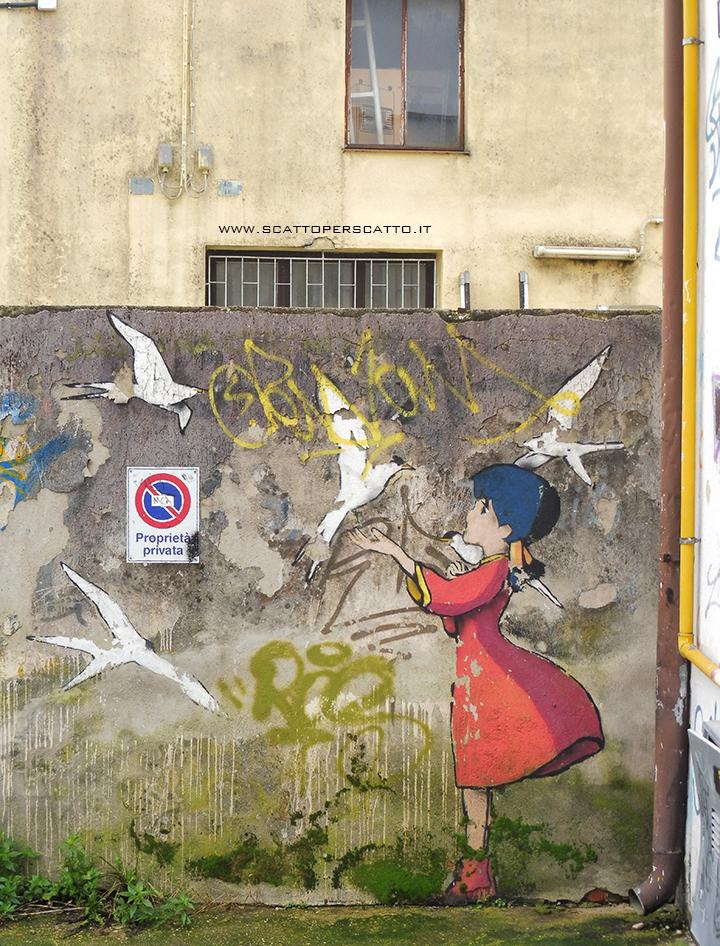 Dove trovare street art a Padova: zona CSO Pedro - Kenny Random