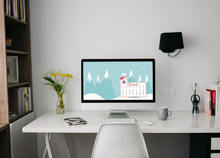 Lo sfondo di Dicembre: sfondo desktop