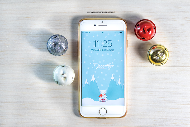 Lo sfondo di Dicembre: sfondo smartphone