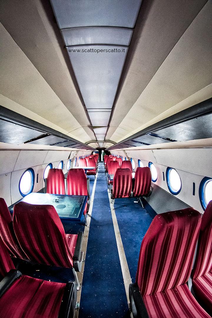 Michelangelo da Vinci: interno di uno degli aerei