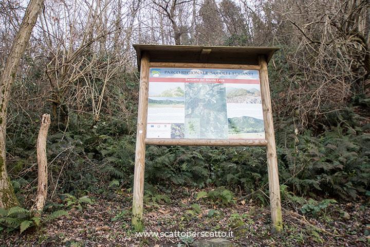 Sentiero del Monte Ceva: pannello informativo