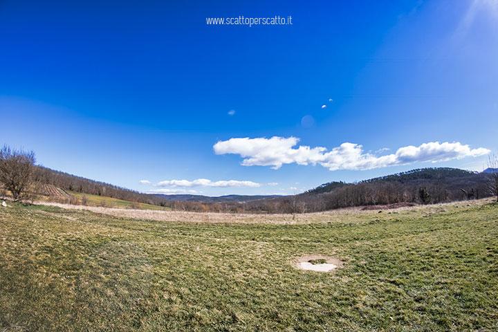 San Galgano: vista verso l'Eremo