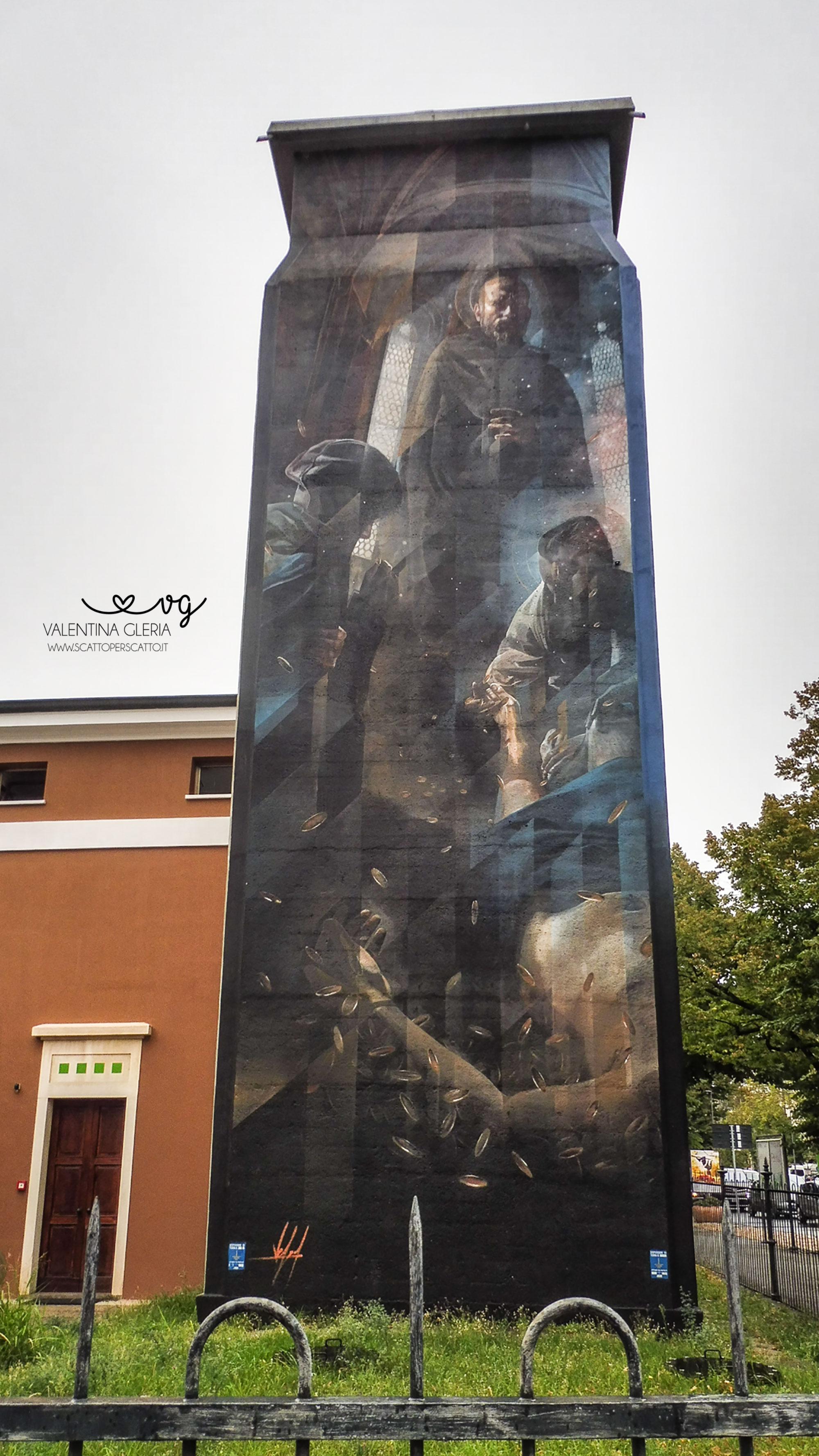 La torretta idrica di Viale Codalunga: Vesod Brero reinterpreta Giotto