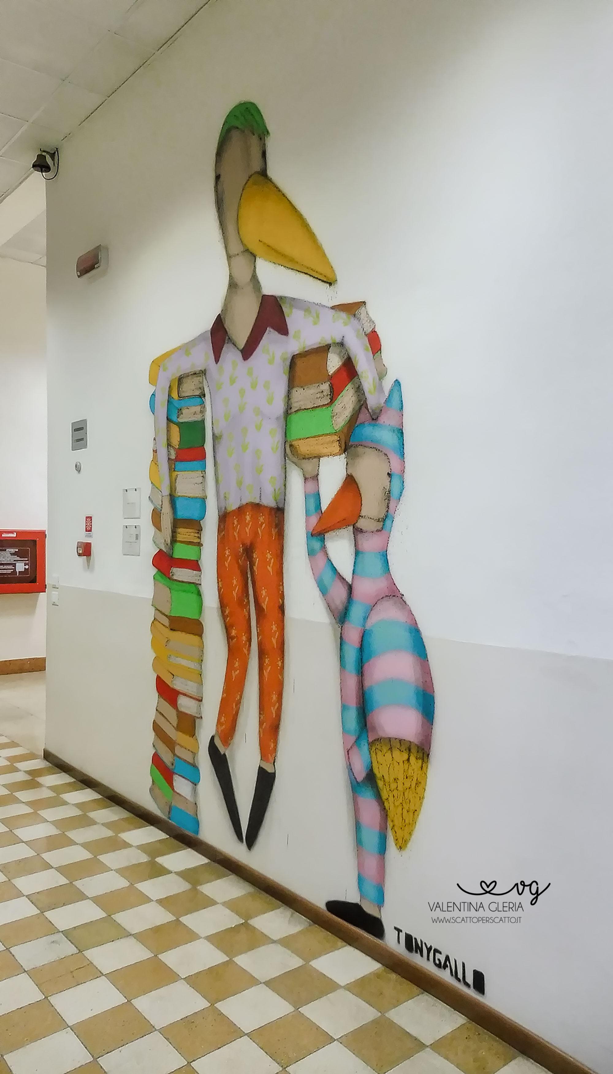 Tony Gallo per Corridoi d'Arte Contemporanea al Liceo Duca d'Aosta